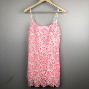 Lilly Pulitzer Beth Two-Tone Exploded Rose Dress
